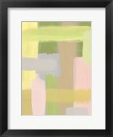 Subdued Blocks III Framed Print