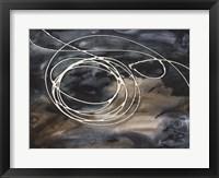 Midnight Swirl II Framed Print