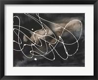 Midnight Swirl III Framed Print