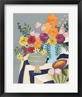 Striped Tablecloth I Framed Print