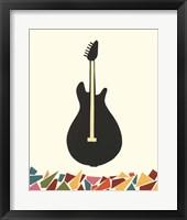 Cut Paper Instruments VII Framed Print