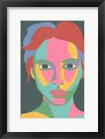 Colorblock Face I Framed Print
