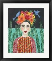 Framed Frida Headdress II