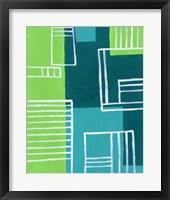 On the Line III Framed Print
