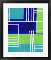 On the Line IV Framed Print