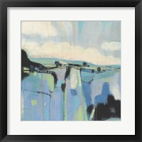 Abstract Shades of Blue I Framed Print