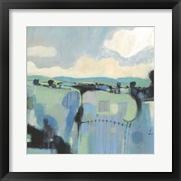 Abstract Shades of Blue II Framed Print