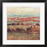 Divided Landscape I Framed Print