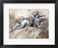 Off to the Races II Framed Print