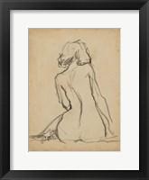 Figure Lines I Framed Print
