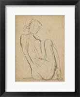 Figure Lines IV Framed Print