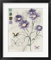 Field Notes Florals III Framed Print