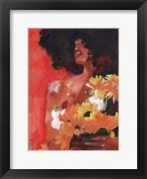 Through the Flowers I Framed Print