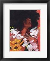 Through the Flowers II Framed Print
