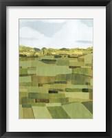 Woven Pasture I Framed Print