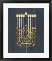 Golden Hanukkah I Framed Print