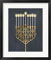 Golden Hanukkah II Framed Print