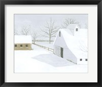 Whiteout Farm II Framed Print