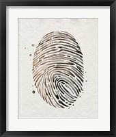 Framed Finger Print I