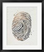 Finger Print II Framed Print