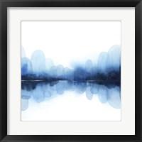 Ultramarine Mirror I Framed Print