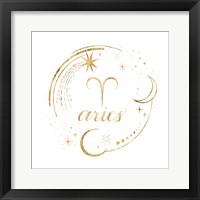 Gilded Astrology I Framed Print