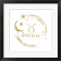 Gilded Astrology II Framed Print