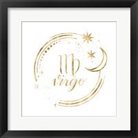 Framed Gilded Astrology VI