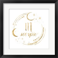 Framed Gilded Astrology VIII