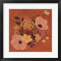 Burnt Orange Bouquet II Framed Print