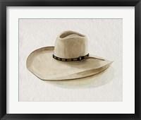 Framed Cowboy Hat I