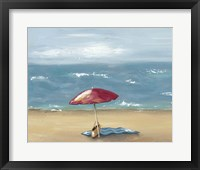 By the Beach I Framed Print
