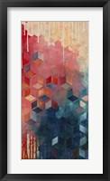 Split Asanoha I Framed Print