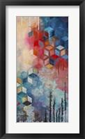 Split Asanoha II Framed Print