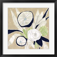 Navy Bouquet Sketch I Framed Print
