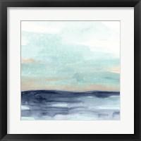 Ocean Morning Mist I Framed Print
