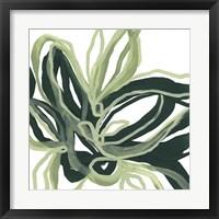 Framed Emerald Bloom I