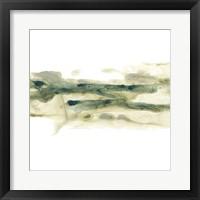Verdigris Ribbon I Framed Print