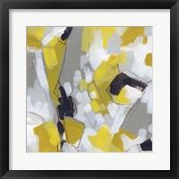 Citron Confetti I Framed Print