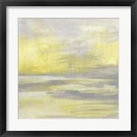 Citron Shore I Framed Print