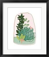 Terrarium Cameo I Framed Print