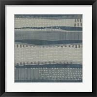 Blue Dusk Textile I Framed Print
