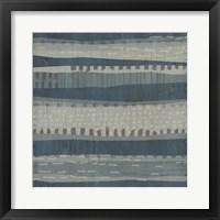 Blue Dusk Textile II Framed Print