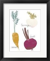 Simple Veggies I Framed Print