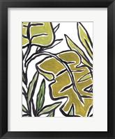 Naive Foliage III Framed Print