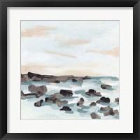 Coastal Shoals I Framed Print