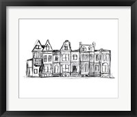 Rowhouses I Framed Print