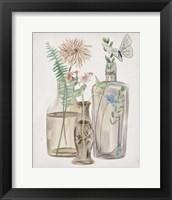 Butterflies & Flowers II Framed Print