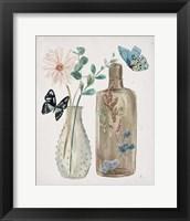 Butterflies & Flowers IV Framed Print