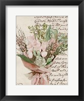 Wrapped Bouquet I Framed Print